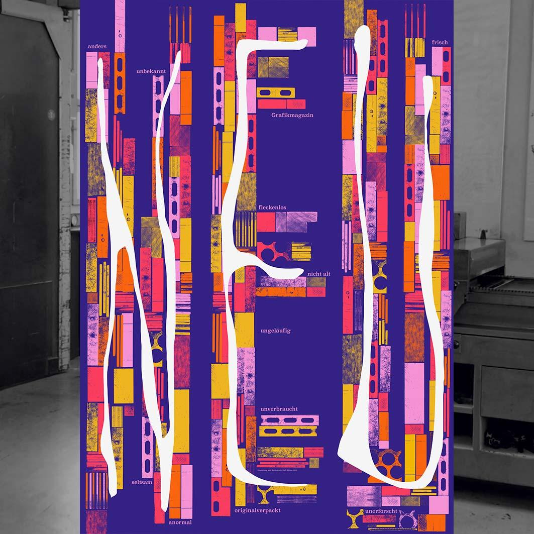 Buchdruck-Plakat von Dafi Kühne