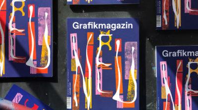 Siebdruck veredeltes Cover der ersten Ausgabe des Grafikmagazins