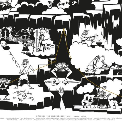 Bücherbogen Ring des Nibelungen Büchergilde Illustrator Martin Stark