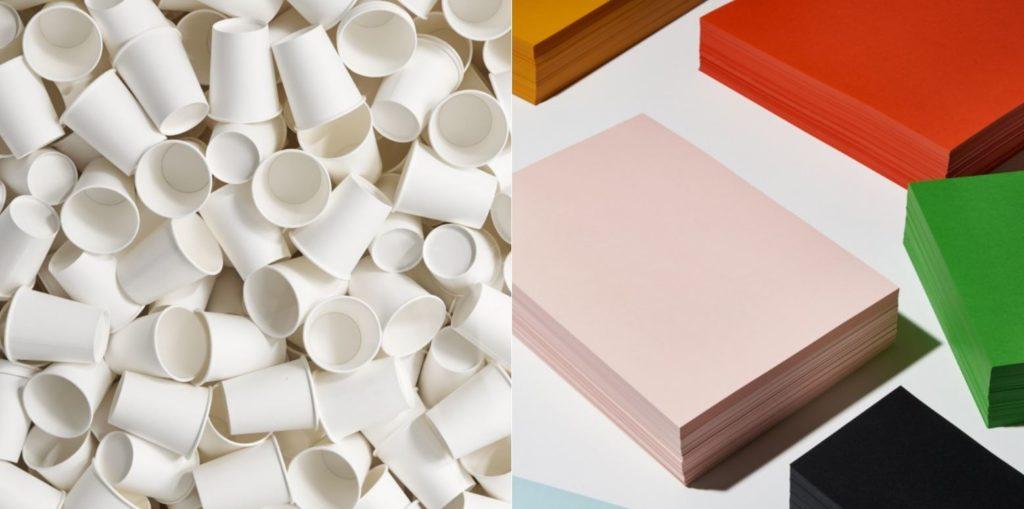 CupCycling Extract Papier von James Cropper Römerturm aus recycelten Coffee-to-go Bechern für den Melitta-Geschäftsbericht