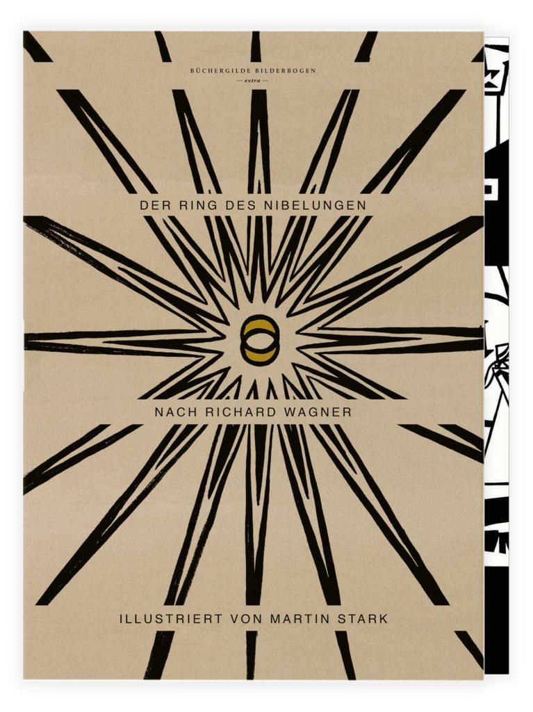 Bilderbogen Ring des Nibelungen Büchergilde Illustrator Martin Stark