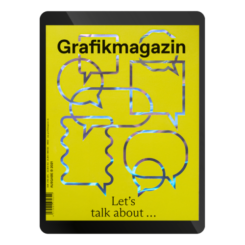 Grafikmagazin Cover 02.21, Grafik+ Corporate Communication, veredelt mit Heißfolie, Heißfolienprägung