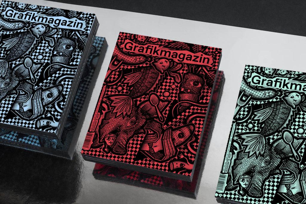 Grafikmagazin 03.21 Farbschnitt Buchbinderei Mayer